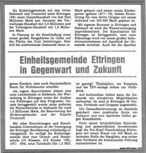 Gegenwart und Zukunft  1981