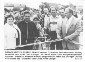 Eröffnung des Radwegs Ettringen - Türkheim