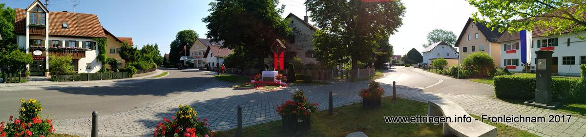 Blick vom Brunnenplatz in die Haupt- und Hahnenbichlstraße