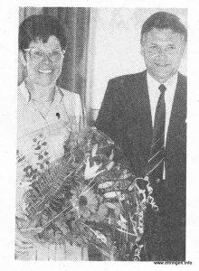 Die Jubilarin mit Bürgermeister Fehle