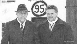 Joseph Huber mit Bgm Walter Fehle