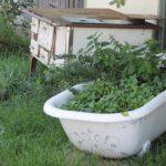 Kreative Dorfgestaltung und lustige Bepflanzung in Traunried. Bild: Augsburger Allgemeine