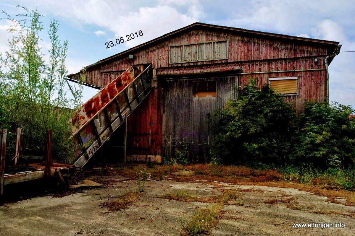 Das alte Lagerhaus auf dem Bahnhofsgelände