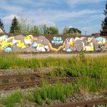 Graffiti am Lagerhaus
