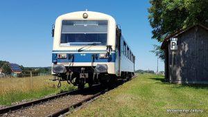 Die Staudenbahn, die André Heigel hier bei Margertshausen fotografiert hat, soll auch wieder zwischen Türkheim und Ettringen fahren.