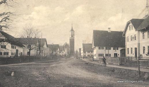 Kerlerkurve (Brunnenplatz) im Jahr 1918