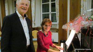 Harald Rotter und Inge Mauch sind ein eingespieltes Team. So meisterten sie beim Benefizkonzert auch plötzlich auftretende Schwierigkeiten