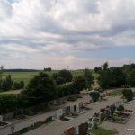 Blick vom alten Markt Walder Friedhof