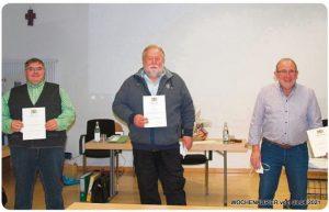 Christian Müller, Josef Schmid und Peter Anwander (von links)