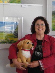 Martina Mayer-Lauingen stellt ihre Werke noch bis Sonntag, 27. Juni, im Salon in Mindelheim aus. Foto: Tina Schlegel