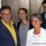 Vorstand des TSV Ettringen (von links): Helga de Paly, Stefanie Huber, Vorsitzender Armin Gödrich, Viktoria Kreis, Petra Hämmerle, Peter Flöring und Rainer GammelFoto Reinhard Stegen.