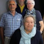 60 und 70 Jahre: (von links): Martin Kugelmann (60), Vorsitzender Armin Gödrich, Erika Berger (70) und Elisabeth Struck (70 Jahre).Foto Reinhard Stegen